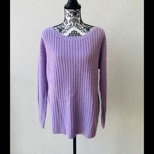 🦋NWT Lord&taylor lilac oversized cotton sweater M
